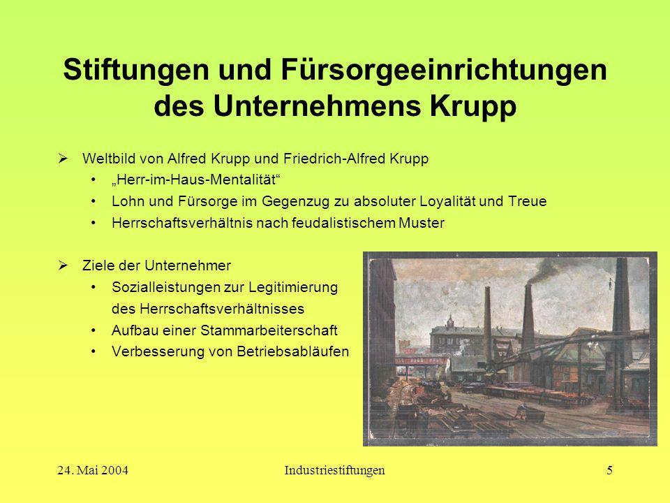 Stiftungen und Fürsorgeeinrichtungen des Unternehmens Krupp
