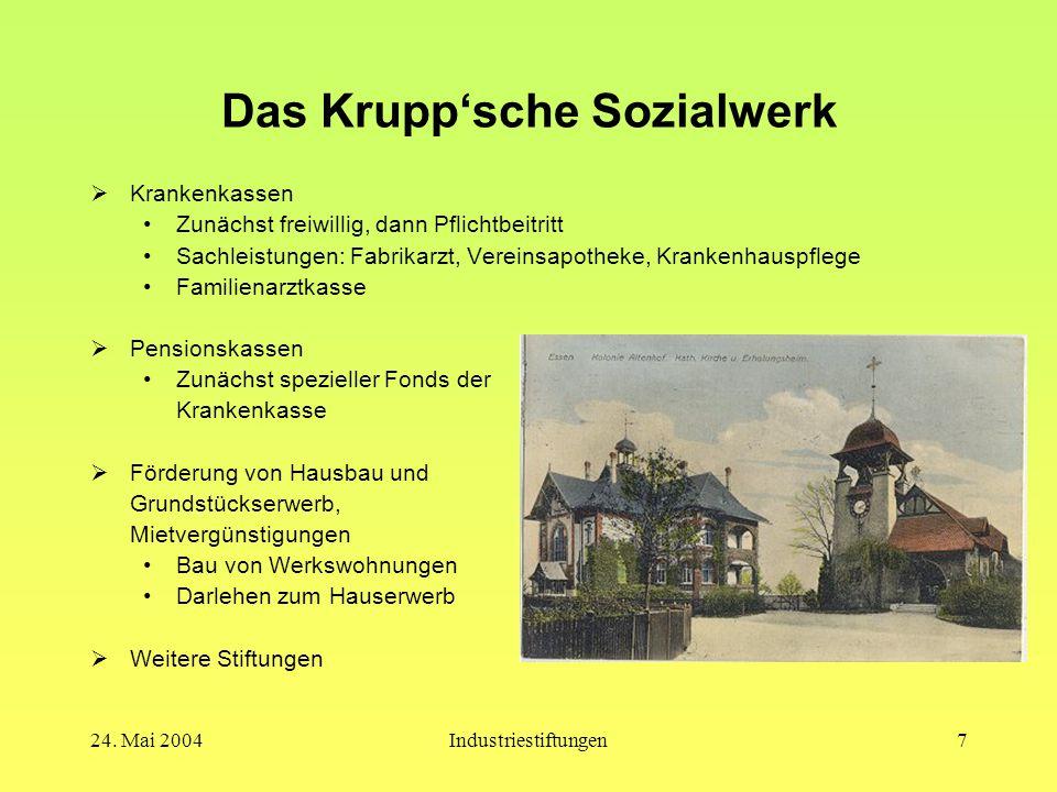 Das Krupp'sche Sozialwerk