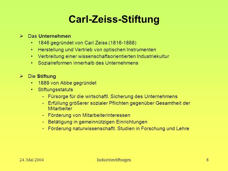 Carl-Zeiss-Stiftung Das Unternehmen