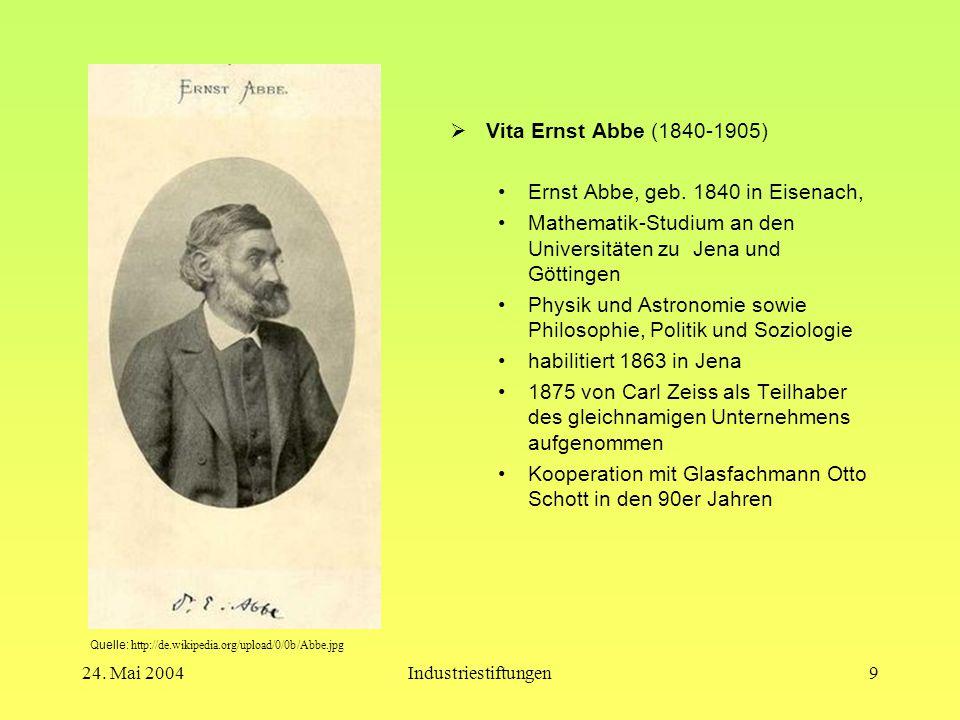 Ernst Abbe, geb. 1840 in Eisenach,
