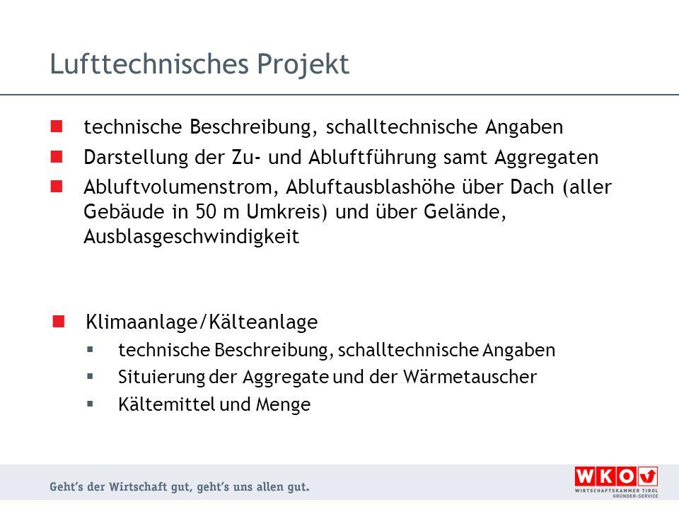 Lufttechnisches Projekt