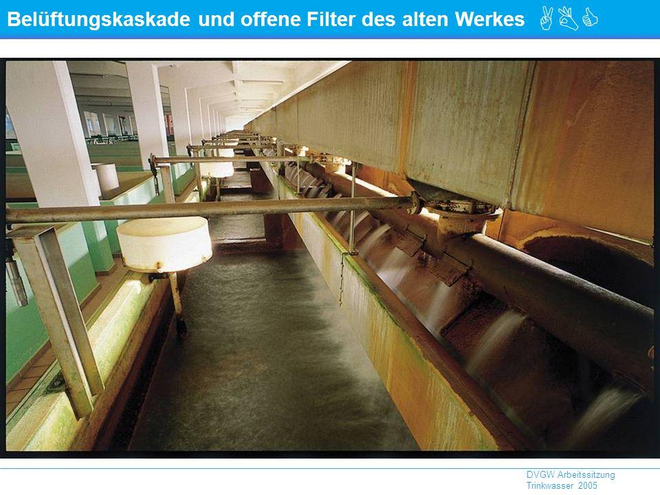 Belüftungskaskade und offene Filter des alten Werkes