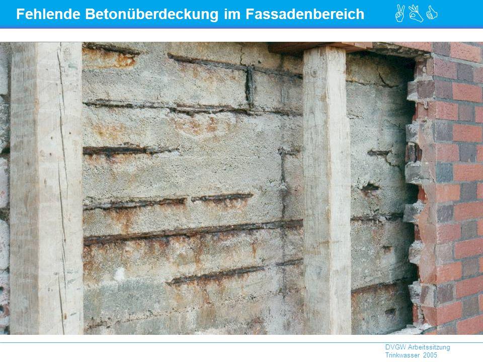 Fehlende Betonüberdeckung im Fassadenbereich