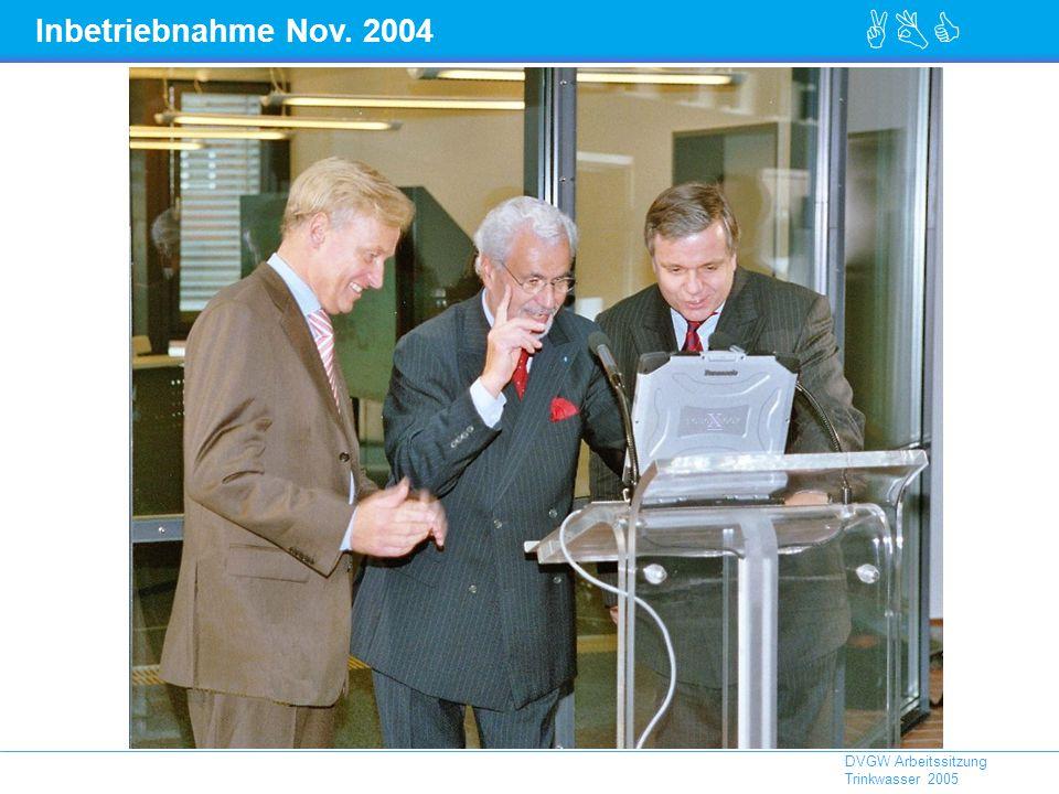 Inbetriebnahme Nov. 2004 X