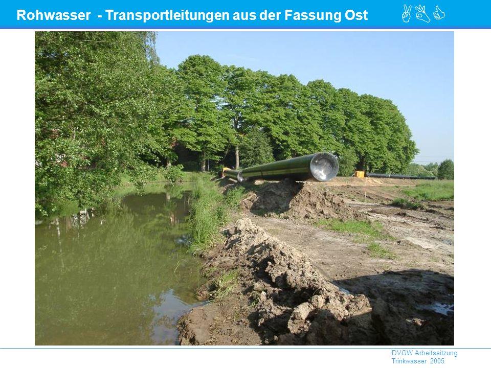 Rohwasser - Transportleitungen aus der Fassung Ost