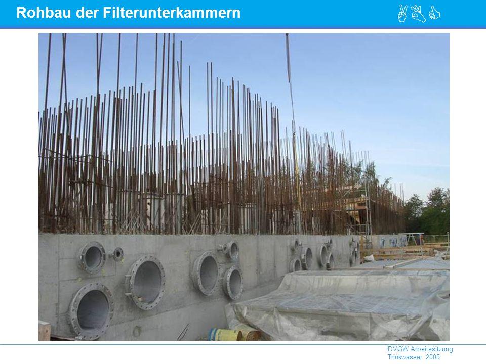 Rohbau der Filterunterkammern