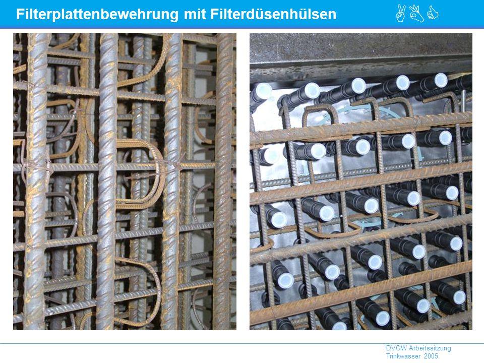 Filterplattenbewehrung mit Filterdüsenhülsen