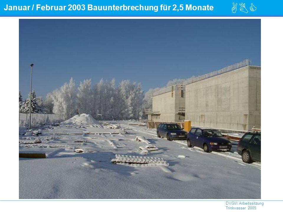 Januar / Februar 2003 Bauunterbrechung für 2,5 Monate