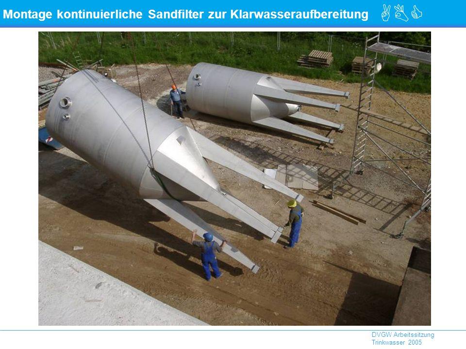 Montage kontinuierliche Sandfilter zur Klarwasseraufbereitung