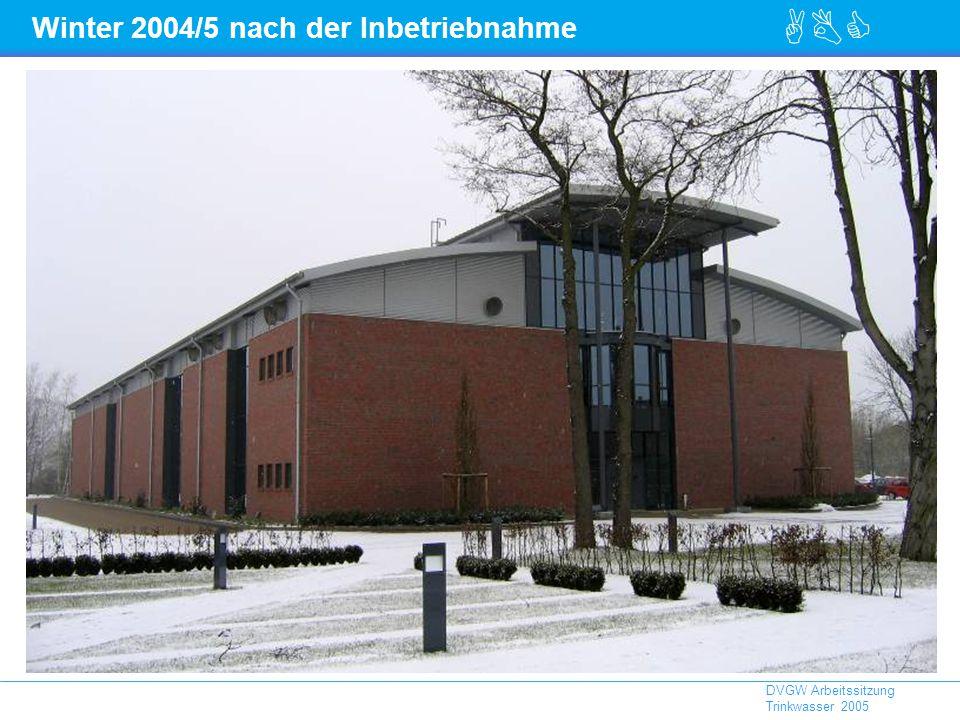 Winter 2004/5 nach der Inbetriebnahme