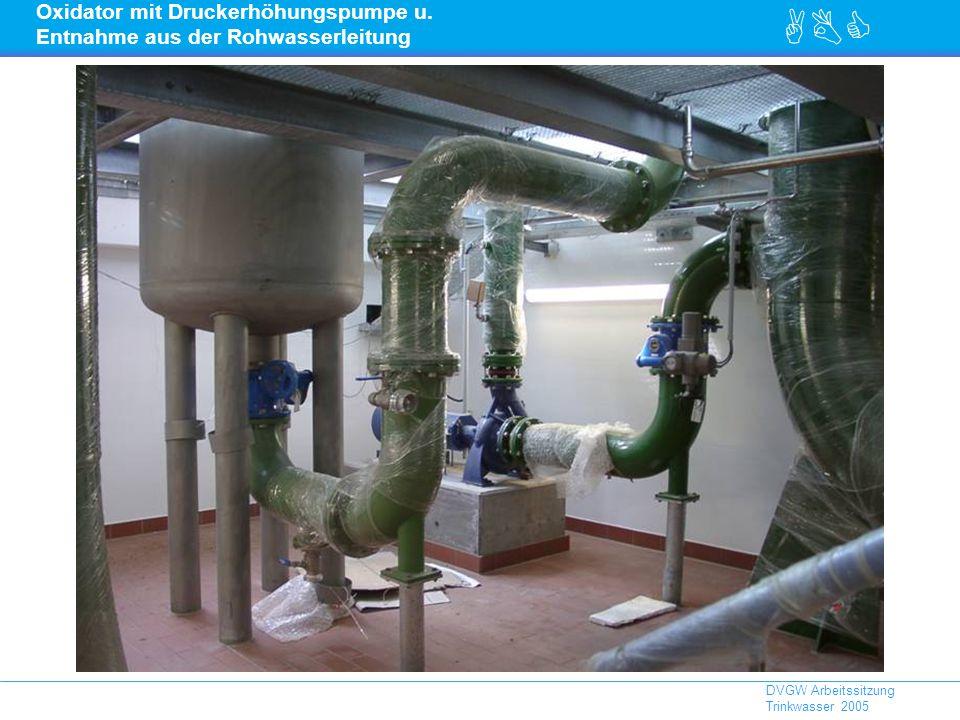 Oxidator mit Druckerhöhungspumpe u. Entnahme aus der Rohwasserleitung