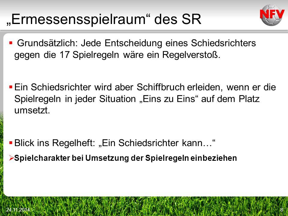 """""""Ermessensspielraum des SR"""