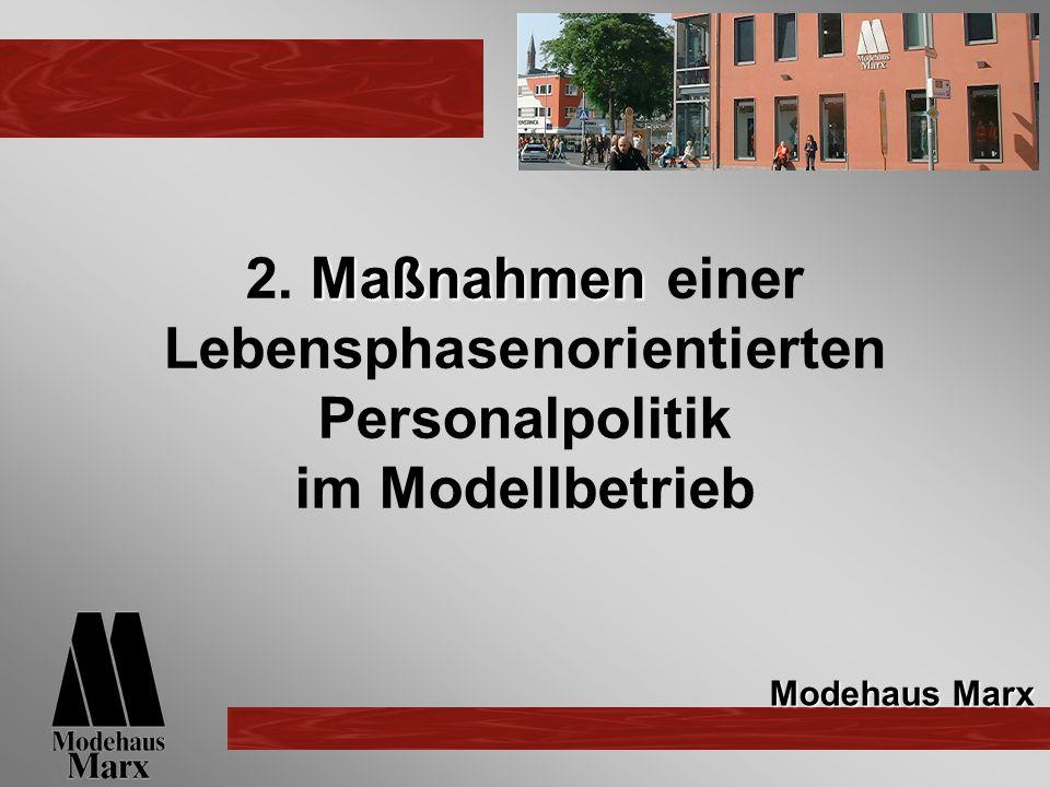 2. Maßnahmen einer Lebensphasenorientierten Personalpolitik im Modellbetrieb