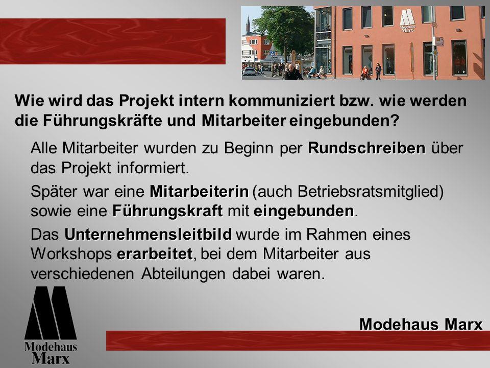 Wie wird das Projekt intern kommuniziert bzw