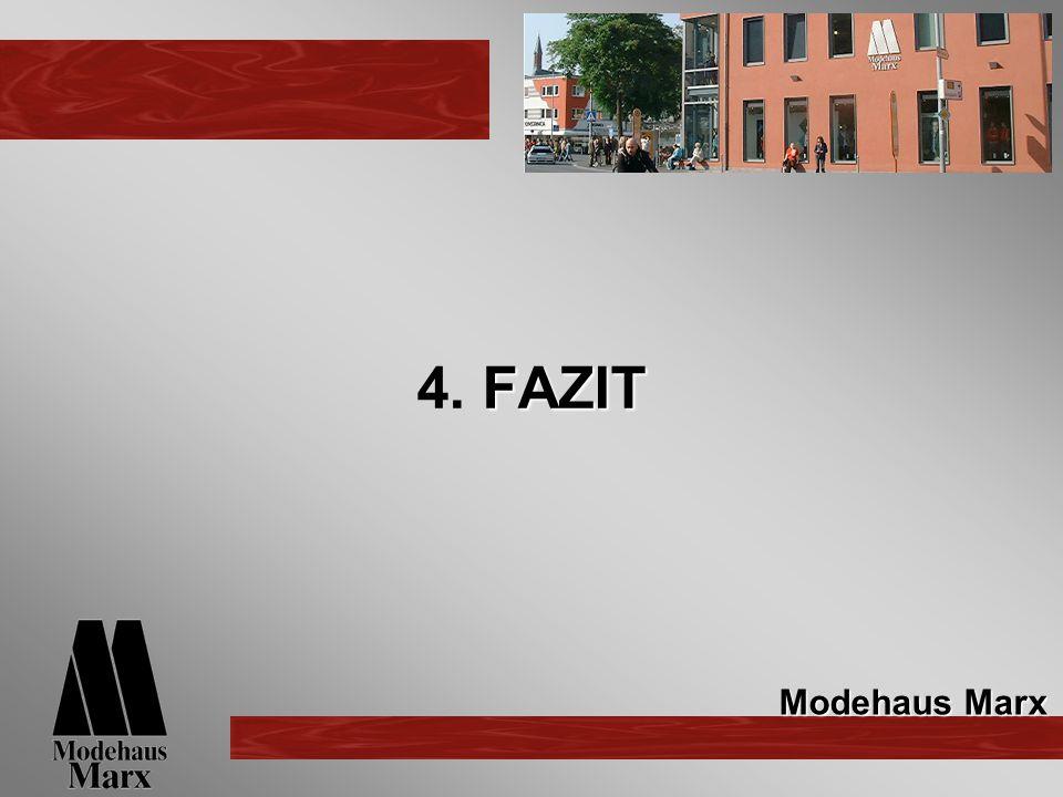 4. FAZIT Modehaus Marx