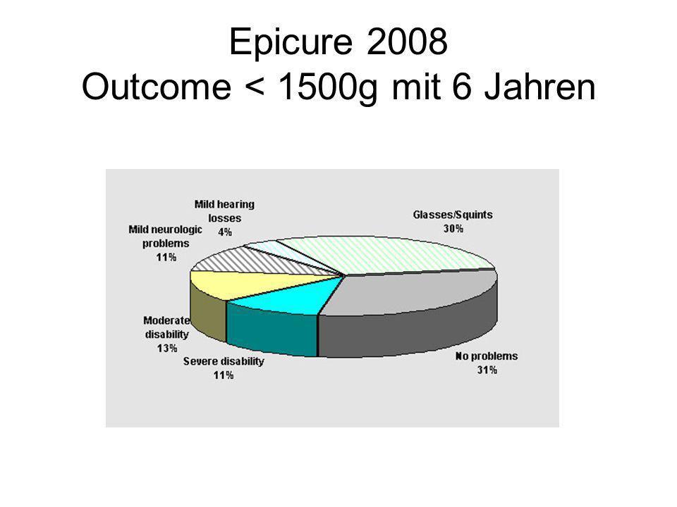 Epicure 2008 Outcome < 1500g mit 6 Jahren