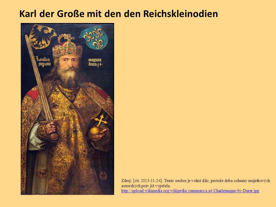 Karl der Große mit den den Reichskleinodien