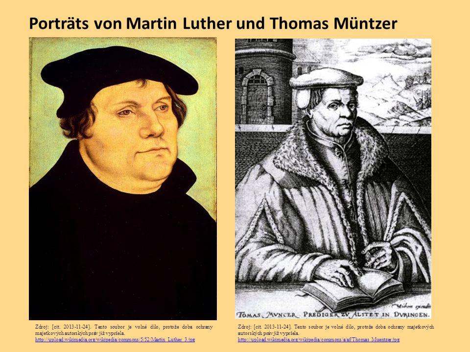 Porträts von Martin Luther und Thomas Müntzer