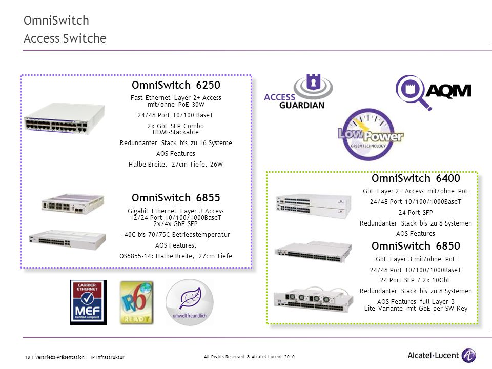 OmniSwitch Access Switche