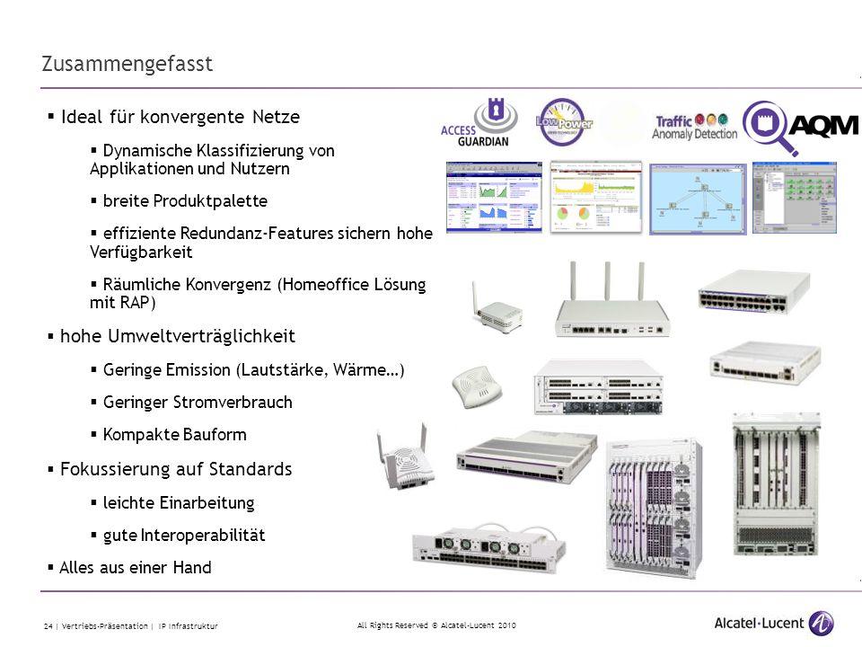 Zusammengefasst Ideal für konvergente Netze