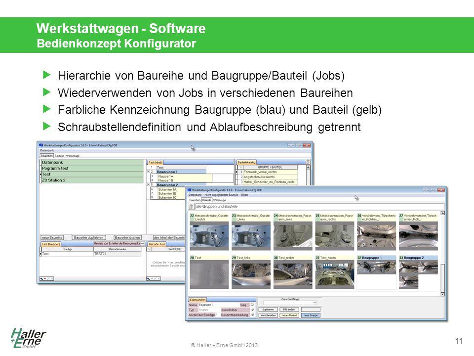 Werkstattwagen - Software Bedienkonzept Konfigurator
