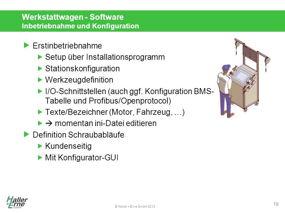 Werkstattwagen - Software Inbetriebnahme und Konfiguration