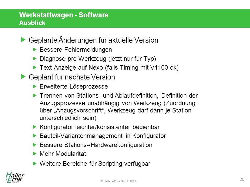 Werkstattwagen - Software Ausblick