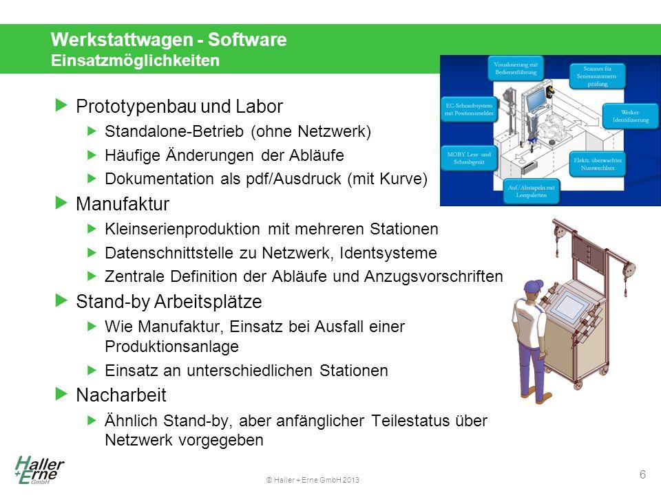 Werkstattwagen - Software Einsatzmöglichkeiten