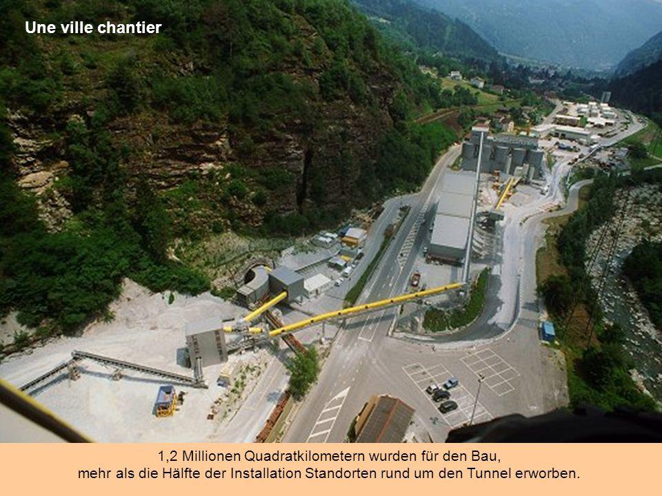 1,2 Millionen Quadratkilometern wurden für den Bau,
