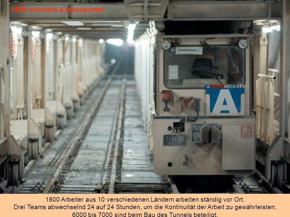 1800 ouvriers à transporter