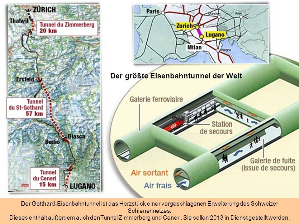 Der größte Eisenbahntunnel der Welt