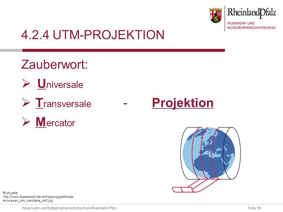 Transversale - Projektion Mercator