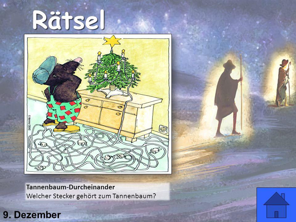Rätsel 9. Dezember Tannenbaum-Durcheinander