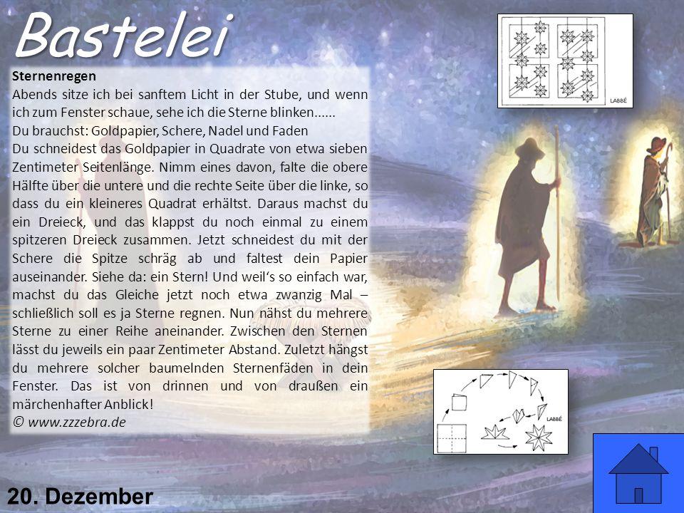 Bastelei 20. Dezember Sternenregen