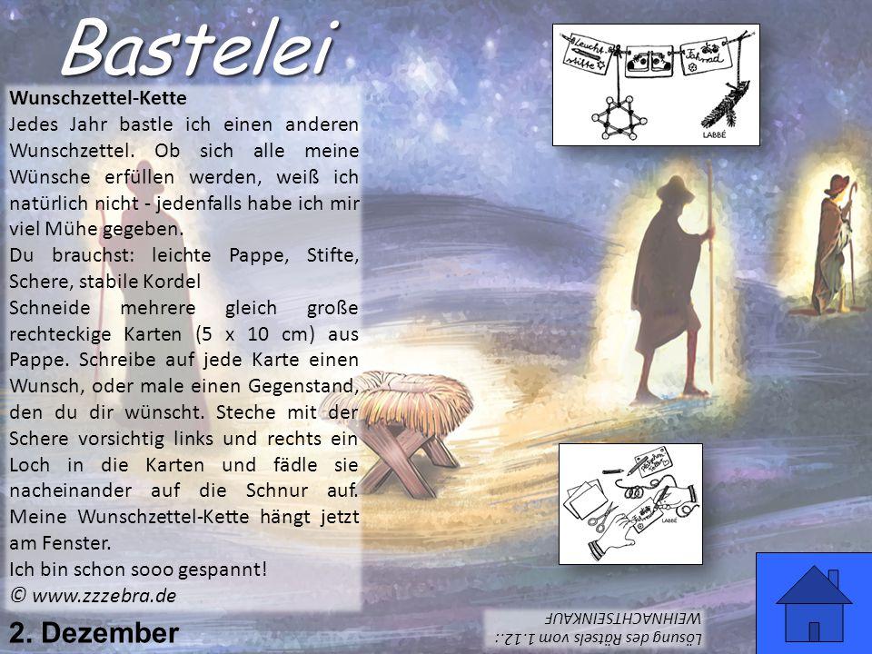 Bastelei 2. Dezember Wunschzettel-Kette