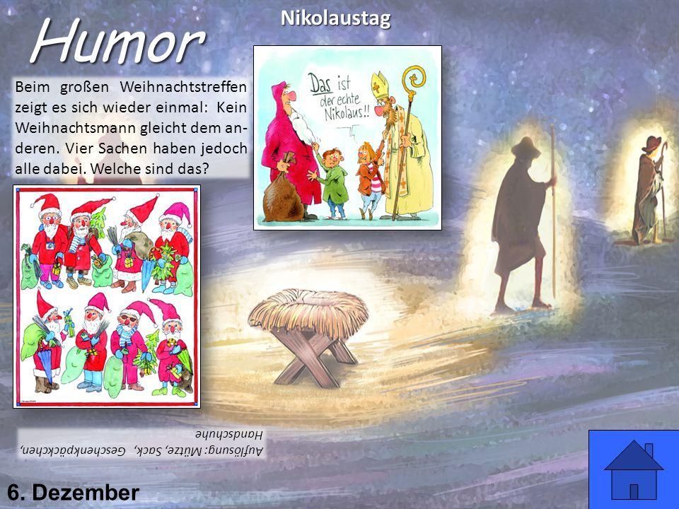Humor Nikolaustag 6. Dezember