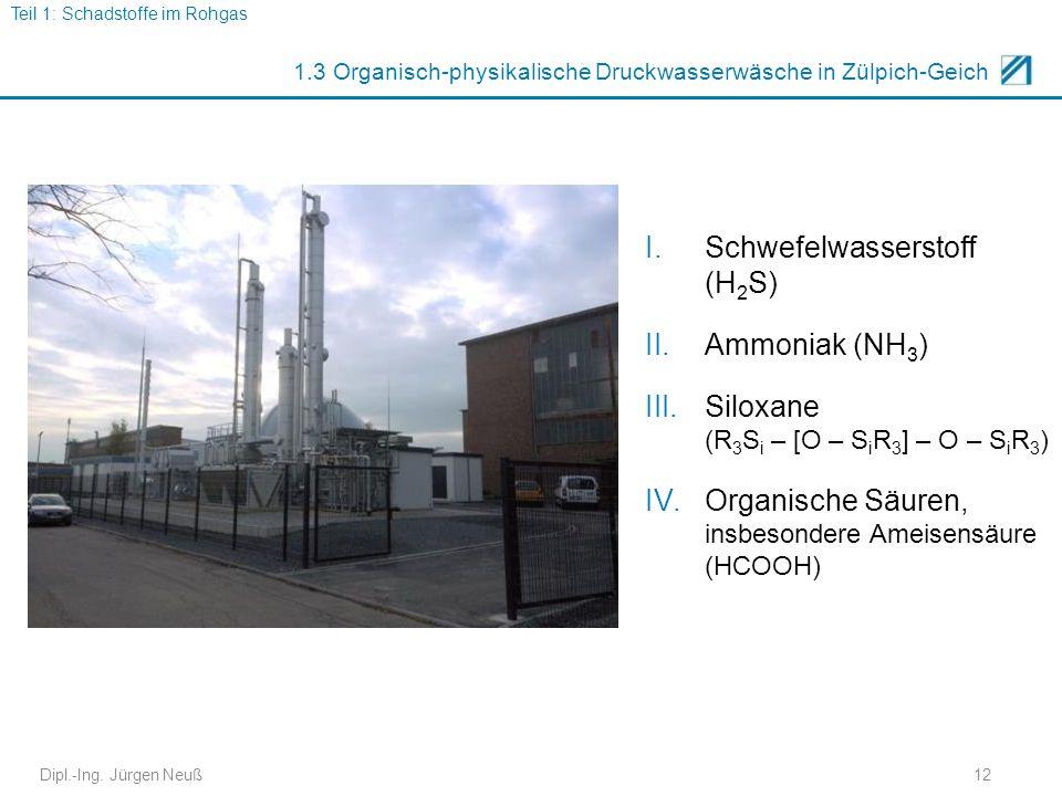 1.3 Organisch-physikalische Druckwasserwäsche in Zülpich-Geich