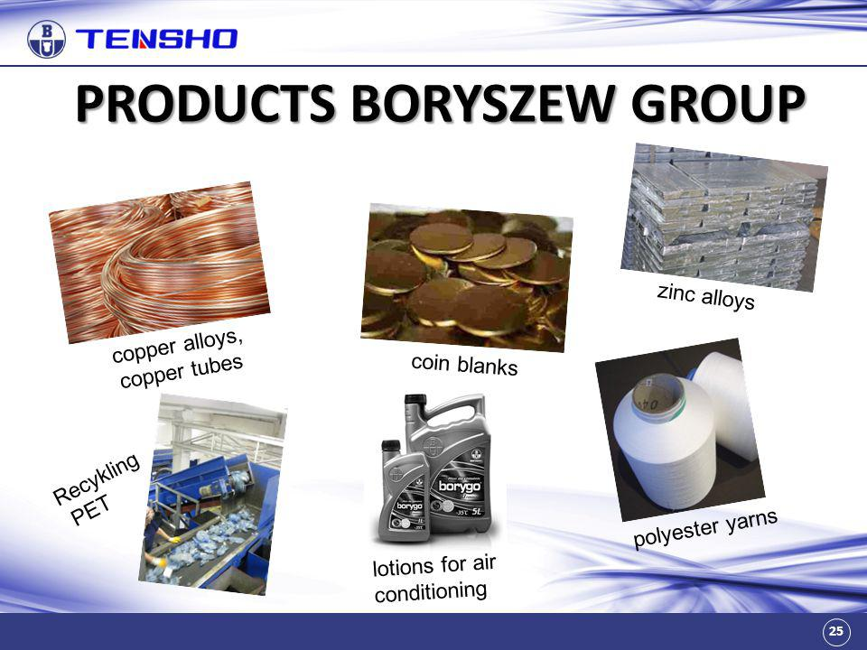 PRODUCTS BORYSZEW GROUP