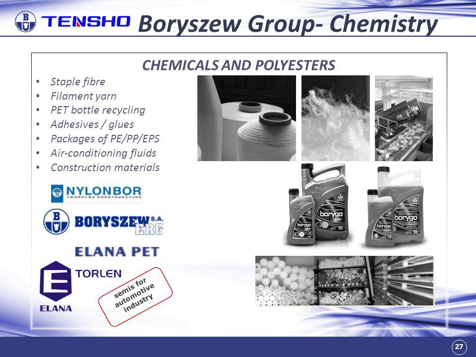 Boryszew Group- Chemistry