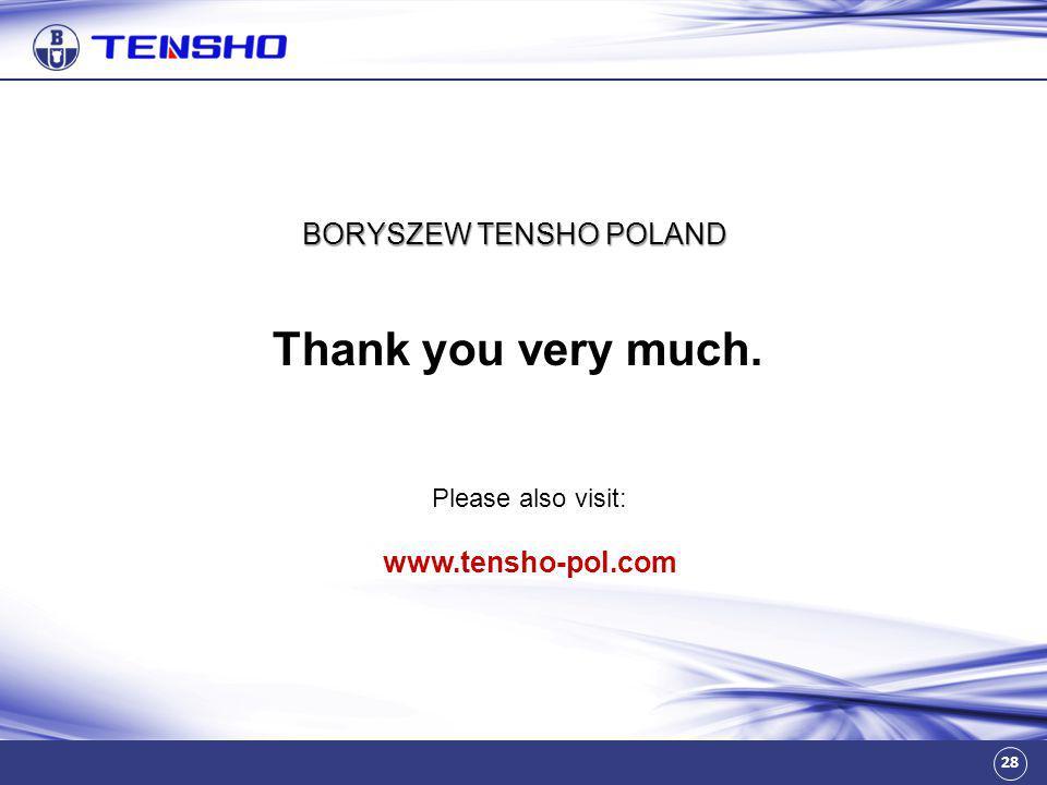 BORYSZEW TENSHO POLAND