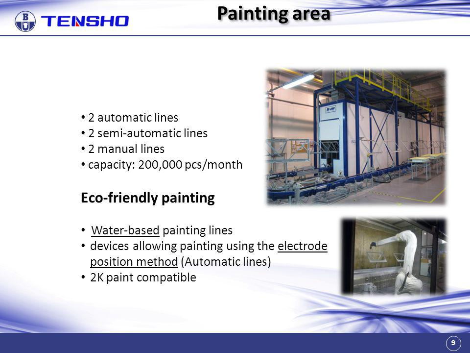 Painting area Eco-friendly painting 2 automatic lines