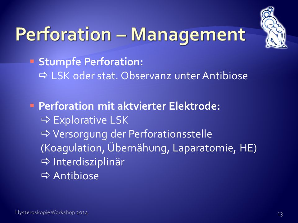 Perforation – Management