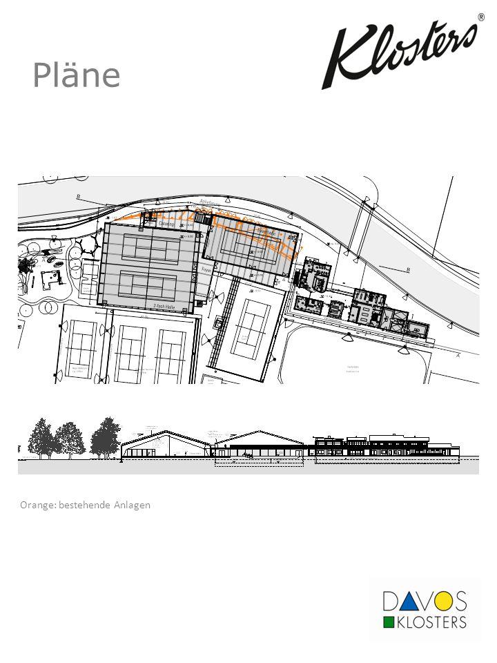 Pläne Orange: bestehende Anlagen