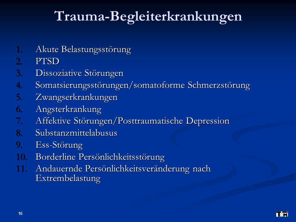 Trauma-Begleiterkrankungen