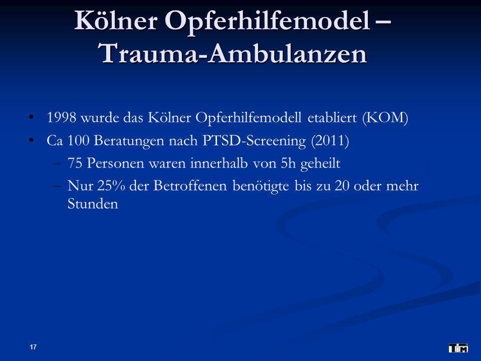 Kölner Opferhilfemodel – Trauma-Ambulanzen