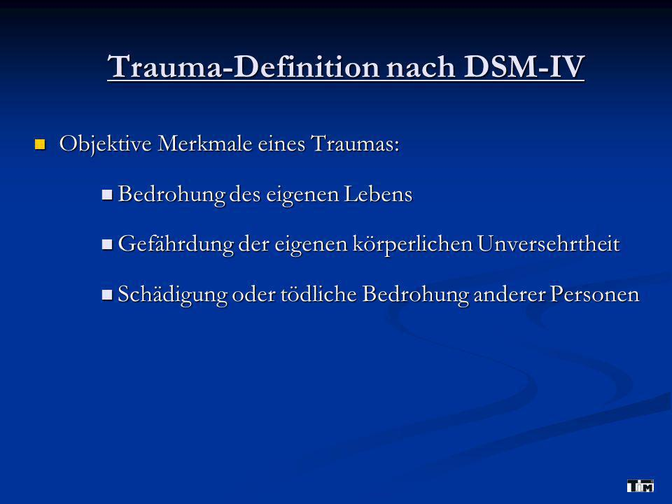 Trauma-Definition nach DSM-IV