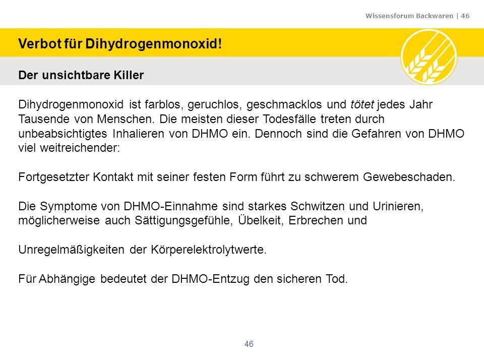 Verbot für Dihydrogenmonoxid!