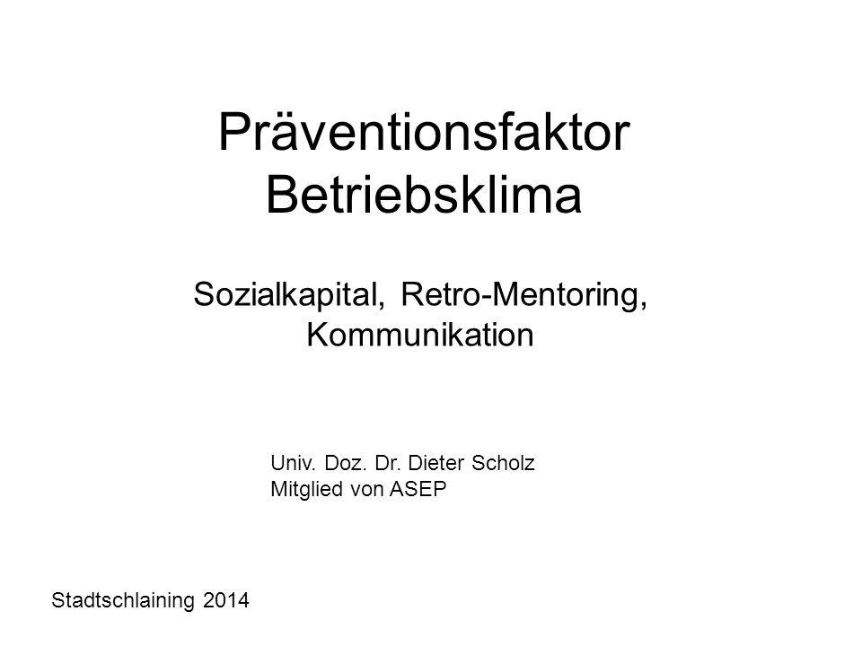 Präventionsfaktor Betriebsklima