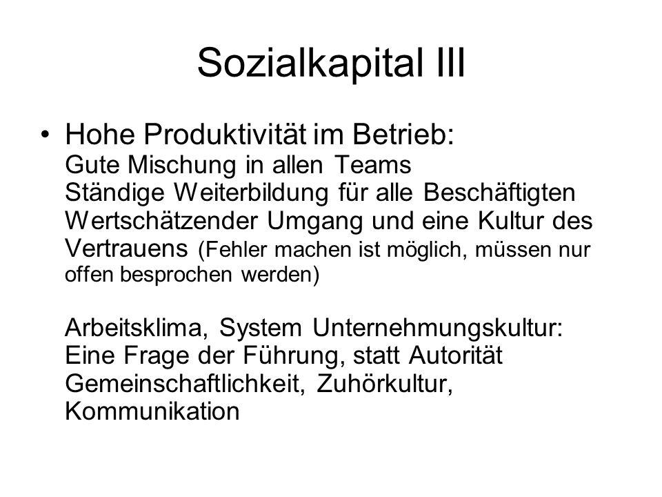 Sozialkapital III
