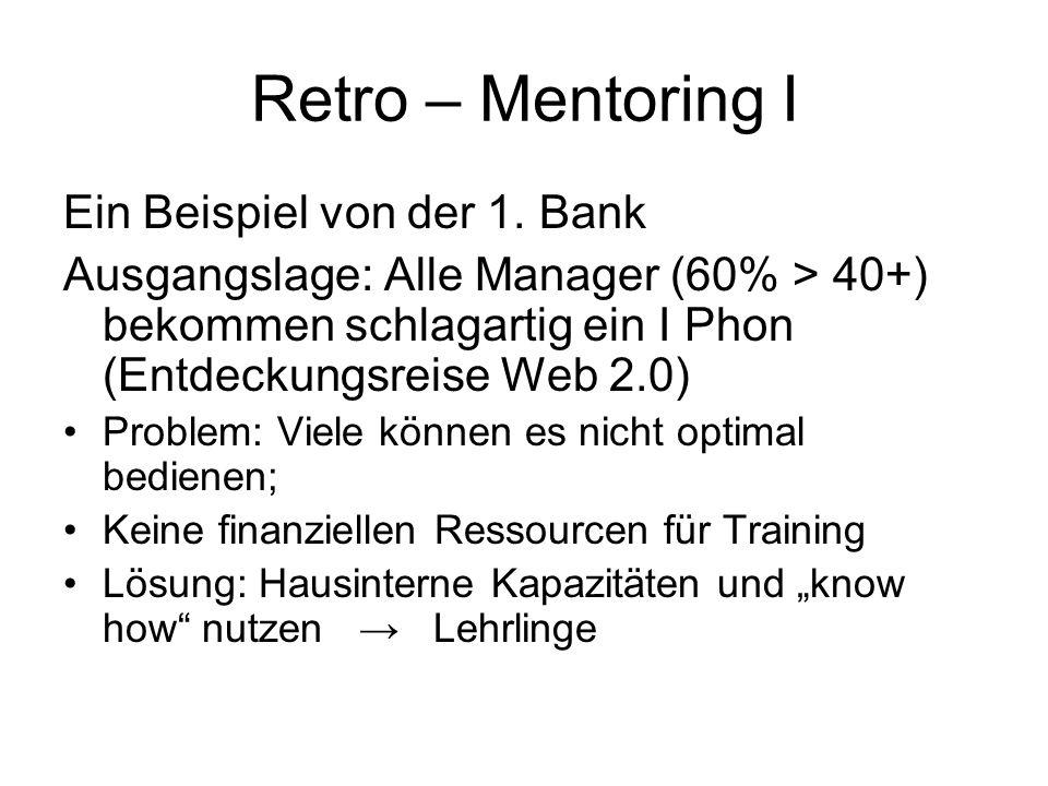 Retro – Mentoring I Ein Beispiel von der 1. Bank